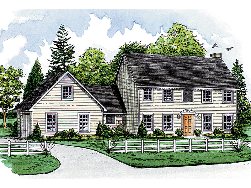 Symmetrically Pleasing Colonial Style Home