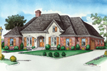 Country French Home Has Brick And Stucco Façade
