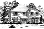 Georgian House Plan Front of Home - 092D-0202 | House Plans and More