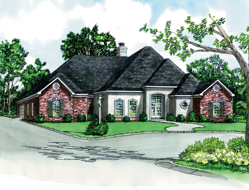 Ranch House Plan Front of Home - 092D-0209 | House Plans and More