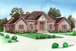 Georgian House Plan Front of Home - 092D-0218 | House Plans and More