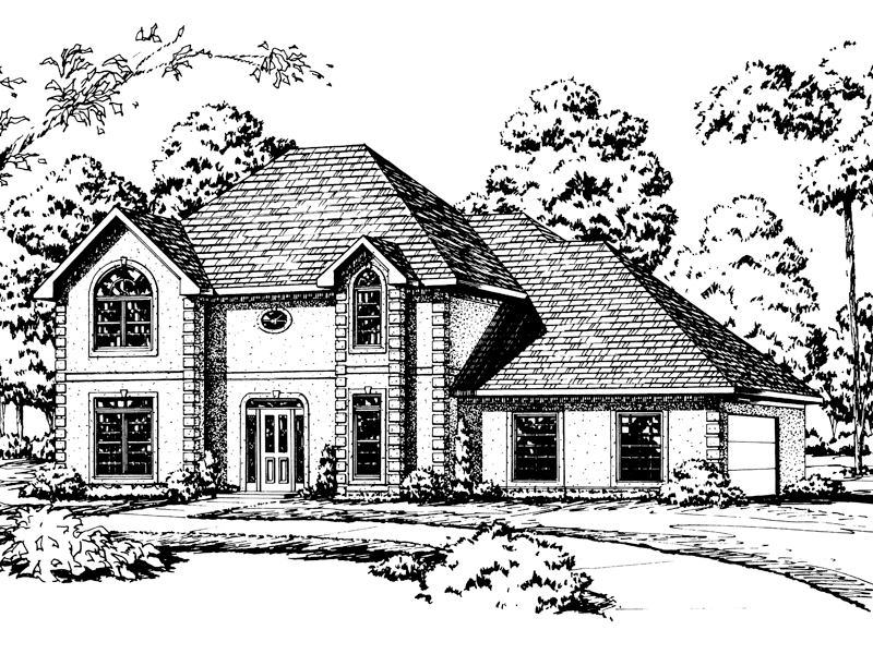 European House Plan Front of Home - 092D-0219 | House Plans and More