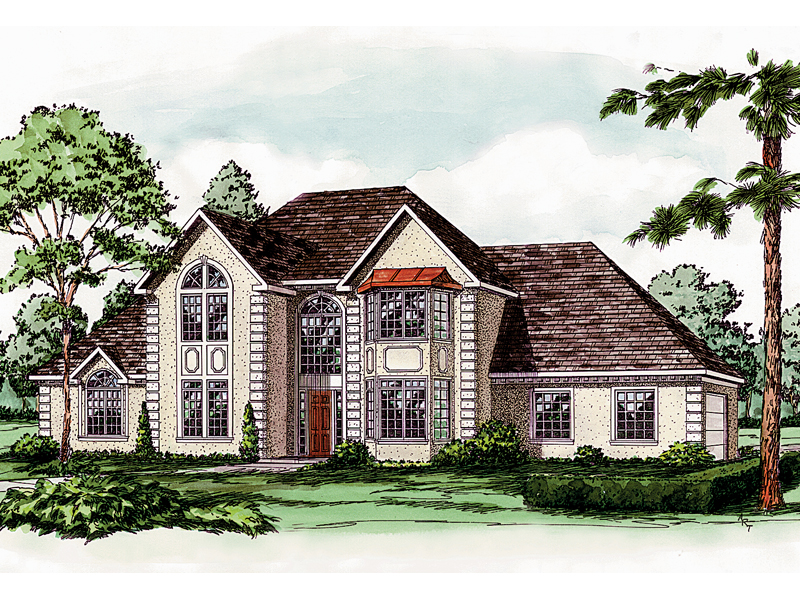 European House Plan Front of Home - 092D-0229 | House Plans and More