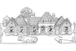 Ranch House Plan Front of Home - 092D-0233 | House Plans and More