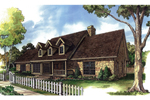 Rustic Country Home With Sprawling Covered Front Porch