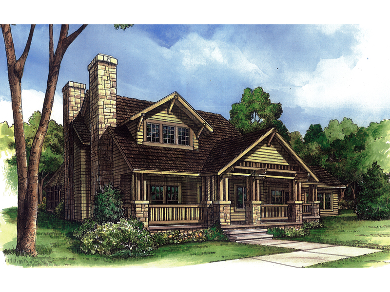 Country Bunglaow Style Home With Craftsman Accents