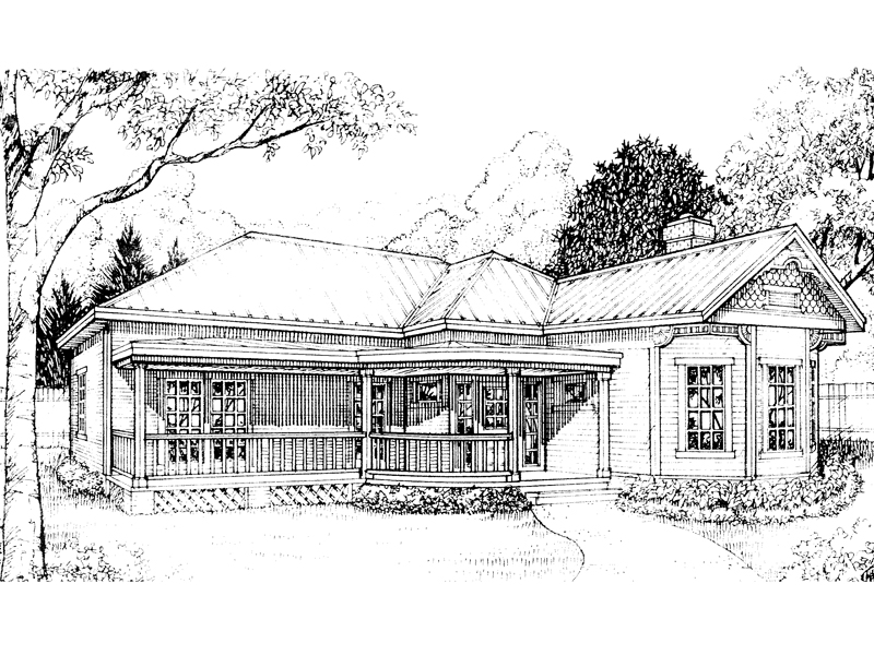 Country House Plan Front of Home - 095D-0018 | House Plans and More