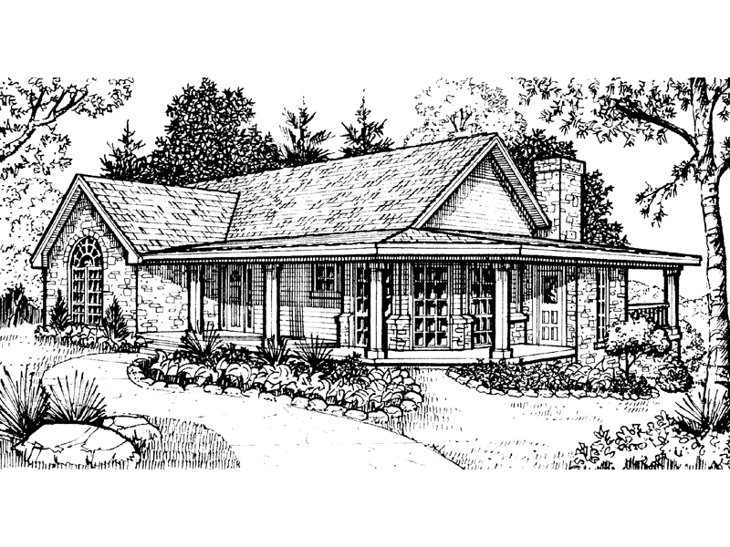 Ranch House Plan Front Image of House - 095D-0022 | House Plans and More