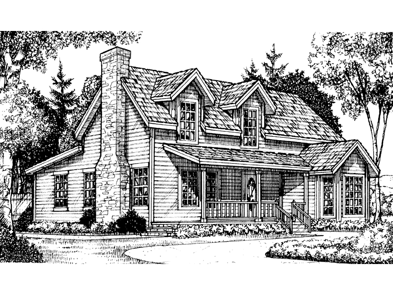 Country And Traditional Styles Blend With This Two-Story House