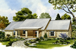 Rustic Home Plan Front of Home - 095D-0042 | House Plans and More