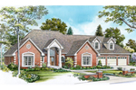 Early American House Plan Front of Home - 095D-0043 | House Plans and More