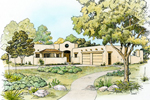 Ranch House Plan Front of Home - 095D-0044 | House Plans and More