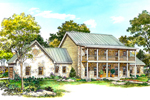 Lowcountry Home Plan Front of Home - 095D-0045 | House Plans and More