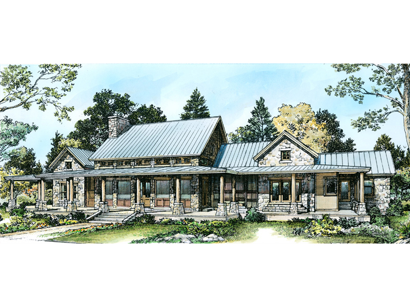 Country House Plan Color Image of House - 095D-0046 | House Plans and More
