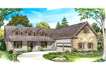 Country French House Plan Front of Home - 095D-0047 | House Plans and More