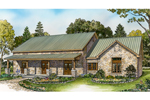 Cabin & Cottage House Plan Front of Home - 095D-0049 | House Plans and More
