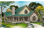 Cabin & Cottage House Plan Front of Home - 095D-0050 | House Plans and More