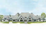 Country French House Plan Front of Home - 095S-0004 | House Plans and More
