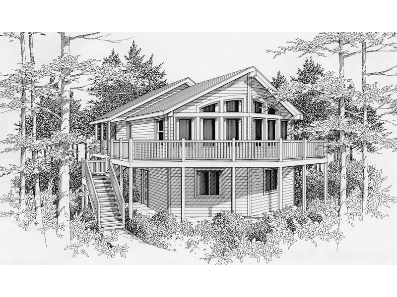 Oregon trail vacation home plan 096d 0004 house plans for House plans oregon