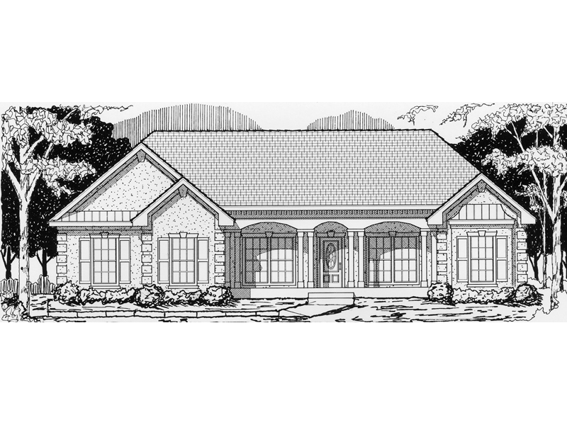 Shore acres ranch home plan 096d 0013 house plans and more for Shore house plans