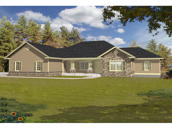 Maria rustic ranch home plan 096d 0033 house plans and more for Traditional ranch homes