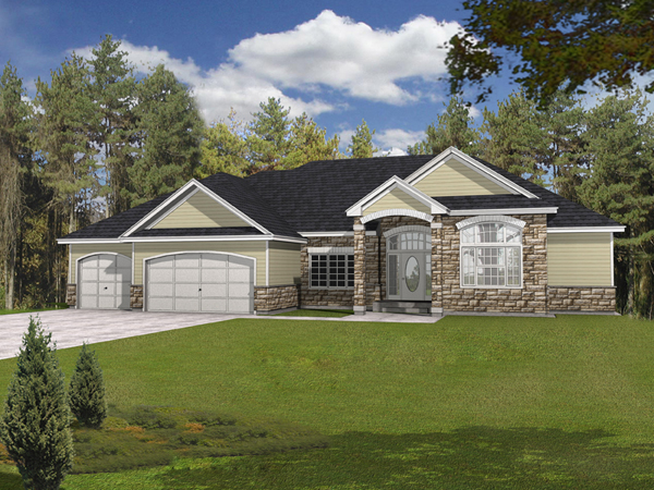 Springtree ranch home plan 096d 0043 house plans and more for Accent homes floor plans