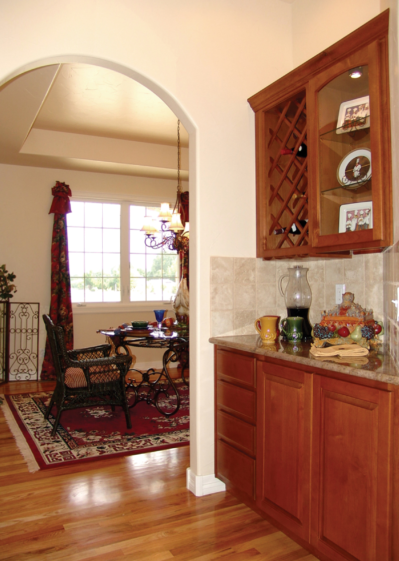 Prairie Style Floor Plan Kitchen Photo 01 101D-0001