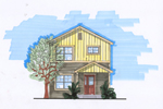 Two-Story Craftsman Home Is Perfect For A Narrow Lot