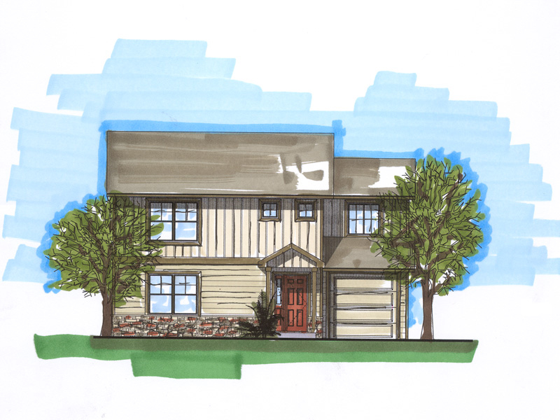 Two-Story Home Has Craftsman Style Influences