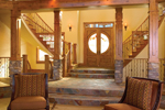 Rustic Home Plan Stairs Photo - 101S-0001 | House Plans and More