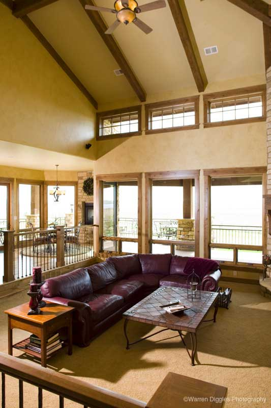 Mountain Home Plan Family Room Photo 01 101S-0003