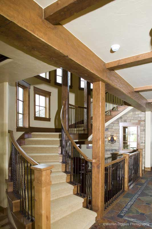 Rustic Home Plan Stairs Photo 101S-0003