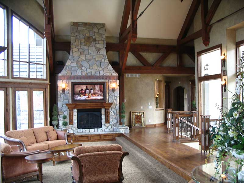 Mountain Home Plan Family Room Photo 01 - 101S-0005 | House Plans and More