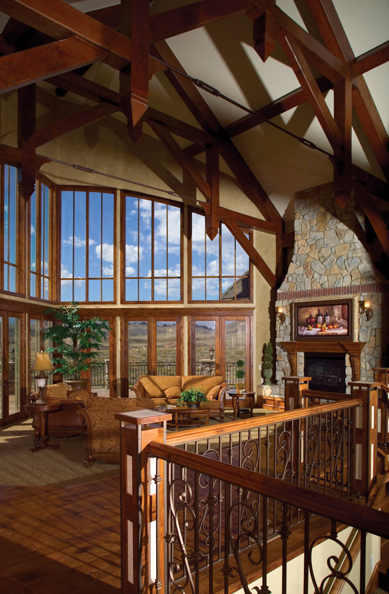 Mountain Home Plan Great Room Photo 01 - 101S-0005 | House Plans and More