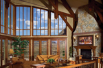 Rustic Home Plan Great Room Photo 01 - 101S-0005 | House Plans and More