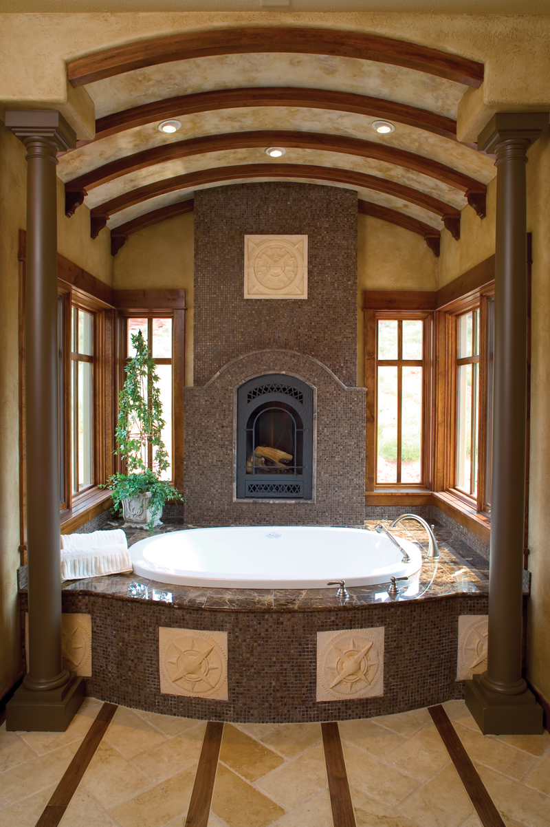 Mountain Home Plan Master Bathroom Photo 01 - 101S-0005 | House Plans and More