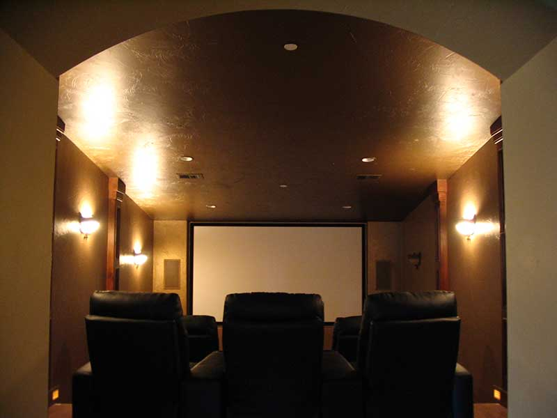 Modern House Plan Theater Room Photo 01 - 101S-0005 | House Plans and More