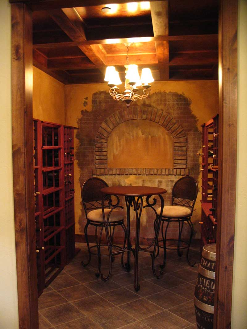 Mountain Home Plan Wine Cellar Photo 101S-0005