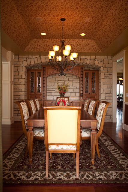 Country French Home Plan Dining Room Photo 01 101S-0012