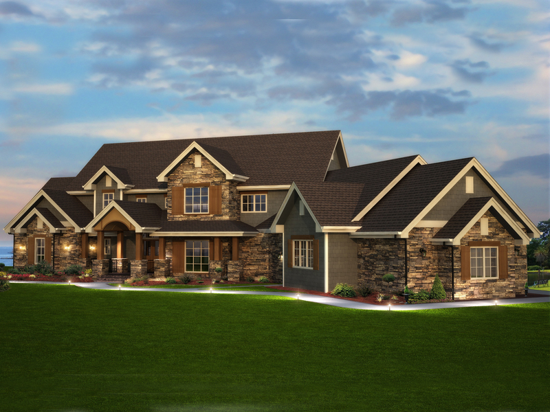Elk Trail Rustic Luxury Home Plan 101S-0013 | House Plans And More