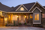 Mountain Home Plan Front of Home - 101S-0015 | House Plans and More