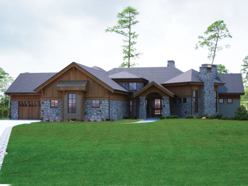 Mountain Home Plan Front of Home - 101S-0017 | House Plans and More