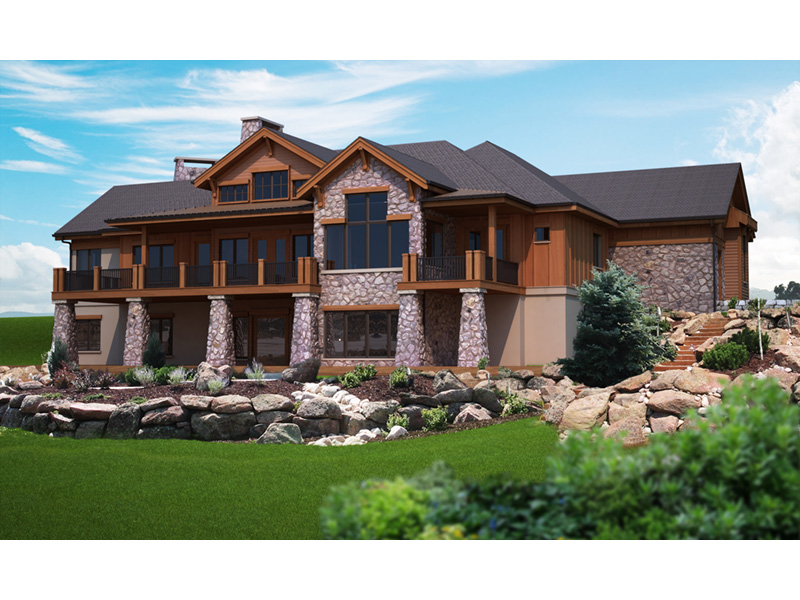 Ranch House Plan Rear Photo 01 101S-0017