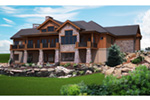 Mountain Home Plan Rear Photo 01 - 101S-0017 | House Plans and More