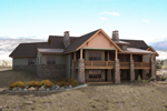 Ranch House Plan Rear Photo of House - 101S-0018 | House Plans and More