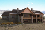 Ranch House Plan Rear Photo 01 - 101S-0018 | House Plans and More