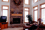 Mountain Home Plan Family Room Photo 01 - 101S-0020 | House Plans and More