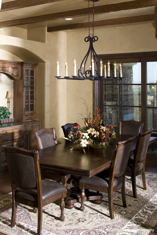 Rustic Home Plan Dining Room Photo 01 101S-0025