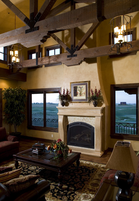 Ranch House Plan Fireplace Photo 01 101S-0025