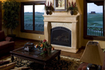 Ranch House Plan Fireplace Photo 01 - 101S-0025 | House Plans and More